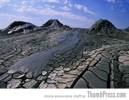 Mud Volcanoes of Azerbaijan 1 10 Amazing Alien Like Places on Our World That Are From Another Planet