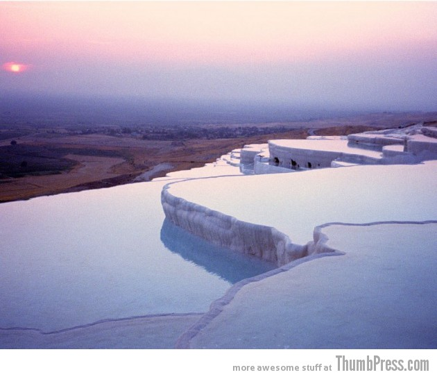 Pamukkale Water Terraces Turkey 630x543 10 Amazing Alien Like Places on Our World That Are From Another Planet