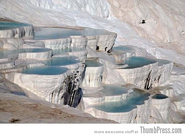 Pamukkale Water Terraces 10 Amazing Alien Like Places on Our World That Are From Another Planet