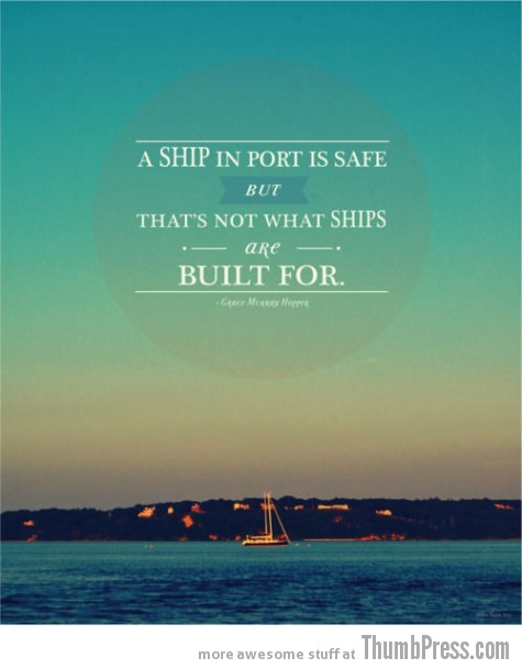 That's not what ships are built for