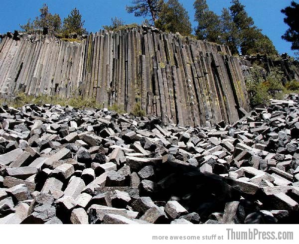 The Devils Postpile 10 Amazing Alien Like Places on Our World That Are From Another Planet