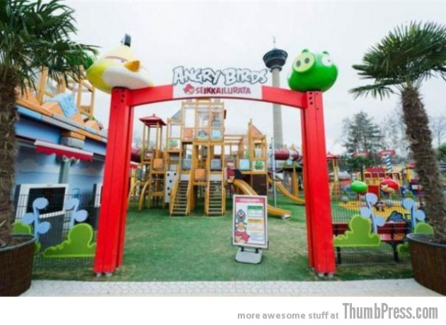 angry birds land theme park opened in finland. Black Bedroom Furniture Sets. Home Design Ideas