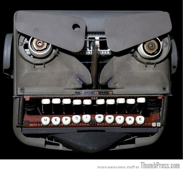 Angry typewriter 630x591 Theyre watching you!!   Finding Weird Faces in Inanimate Objects