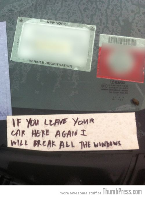 Car Alarm Notes 12 The Best Of Irritating Car Alarm Rage Notes (14 Pics)