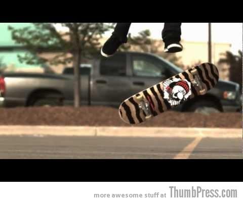 Skateboard tricks at 1000 frames per second