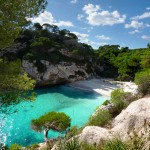 Blue waters of Menorca - Balearic island of Spain