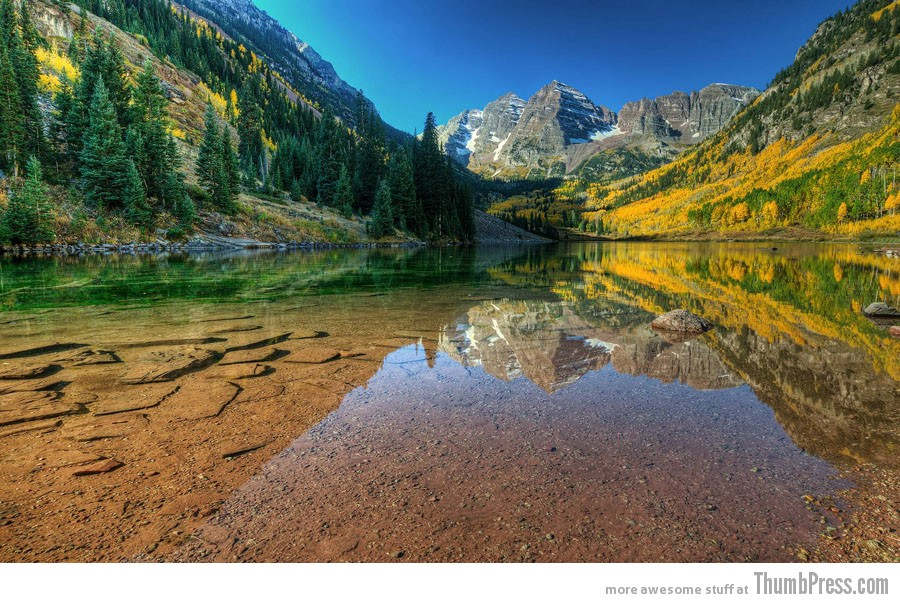 maroon bells lake at -#main