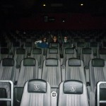 Seeing a movie in an empty theater