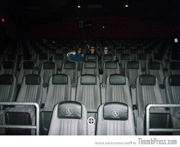 Seeing a movie in an empty theater Everyday Pleasures: 30 Little Things That Feel Real Good