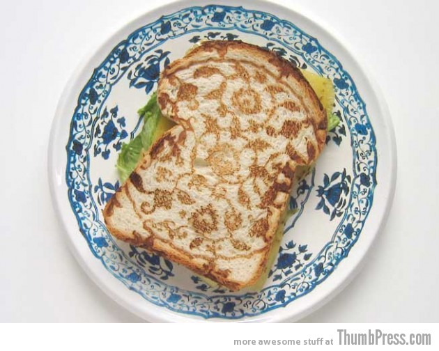 Toast Art 1 630x504 Artistic Toasts: 20 Pictures of Creatively Made Toast art