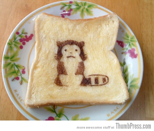 Toast Art 10 Artistic Toasts: 20 Pictures of Creatively Made Toast art
