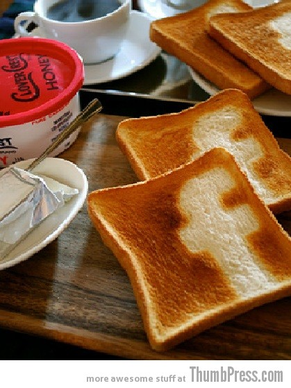 Toast Art 18 Artistic Toasts: 20 Pictures of Creatively Made Toast art