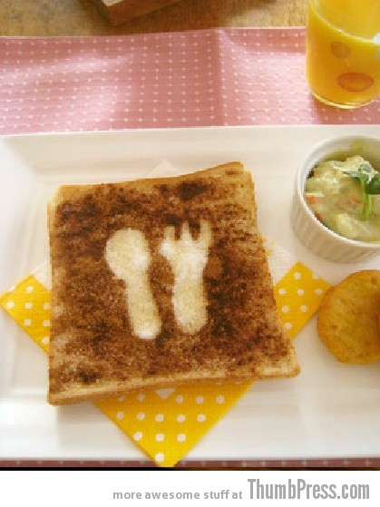 Toast Art 19 Artistic Toasts: 20 Pictures of Creatively Made Toast art