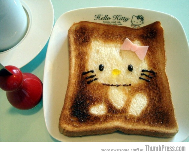 Toast Art 4 630x512 Artistic Toasts: 20 Pictures of Creatively Made Toast art