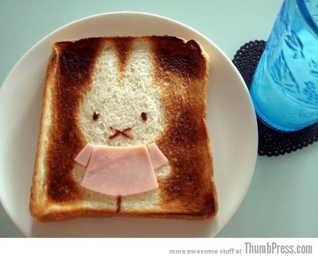 Рисовать на тосте из