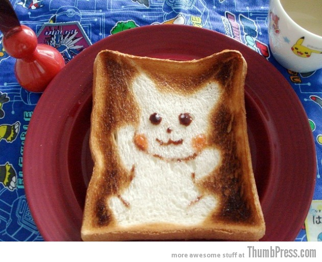 Toast Art 7 630x512 Artistic Toasts: 20 Pictures of Creatively Made Toast art