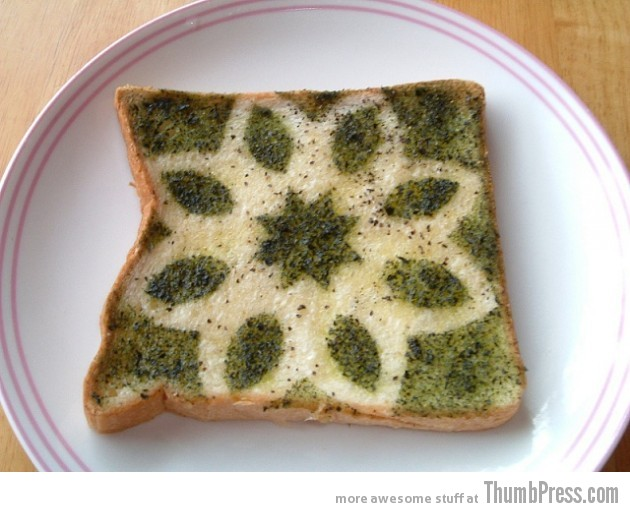 Toast Art 8 630x512 Artistic Toasts: 20 Pictures of Creatively Made Toast art