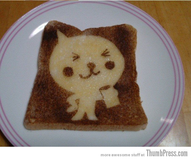 Toast Art 9 Artistic Toasts: 20 Pictures of Creatively Made Toast art