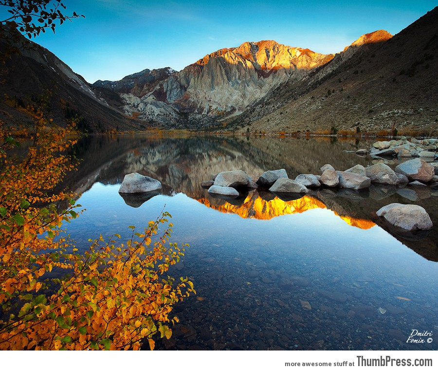 Autumn stillness at Convict lake, CA