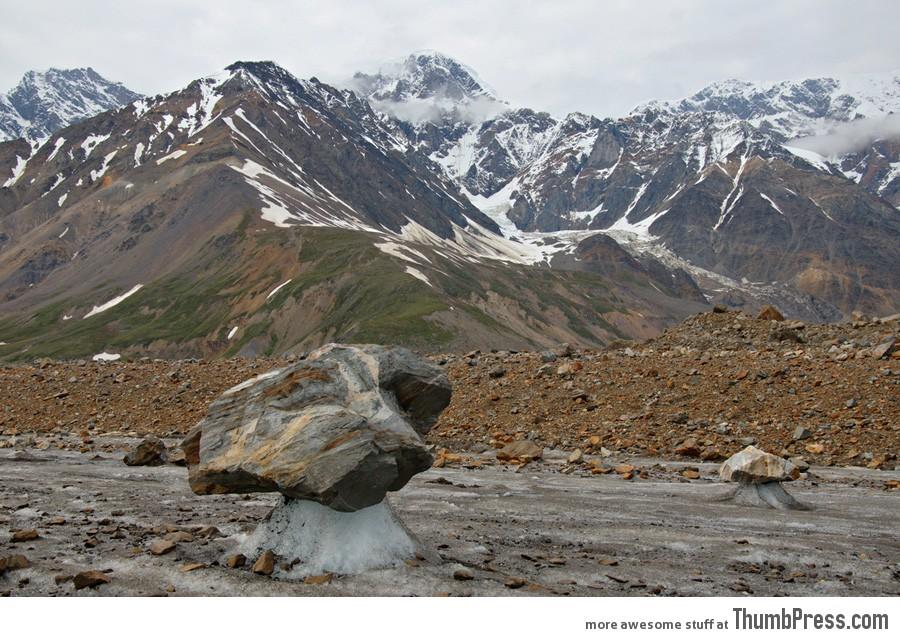 Black Rapids Glacier In The Alaska Range