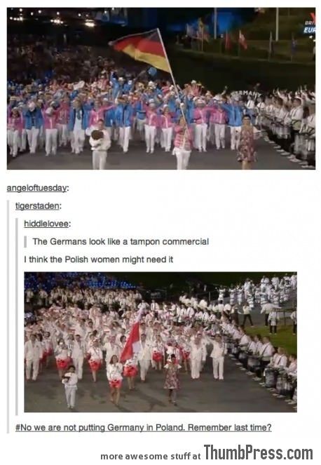 Germans look like tampon commercial