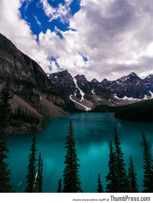 Moraine Lake Magnificent Mountains: Retreat to these Beautiful Mountains to Cool Off in the Summer