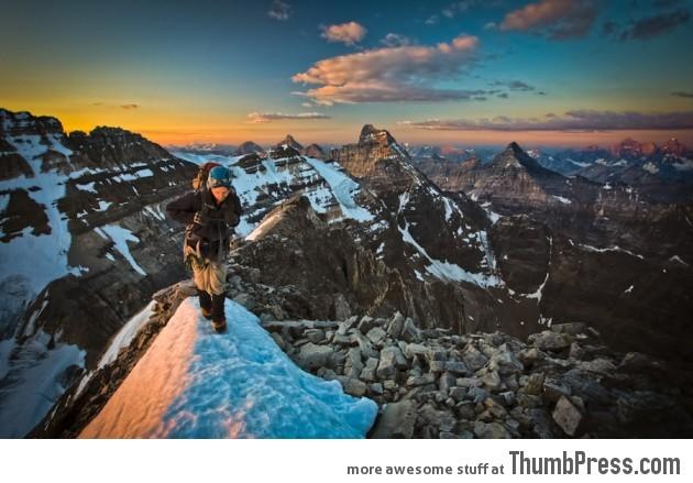 Mt Victoria's Classic SE Ridge, Banff:Yoho National Parks, AB:BC, Canada