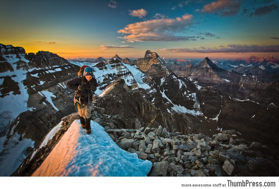 Mt Victoria&#039;s Classic SE Ridge, Banff:Yoho National Parks, AB:BC, Canada