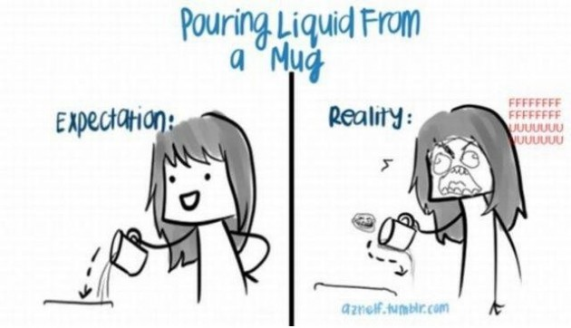 Pouring Liquid - Reality vs Expectations