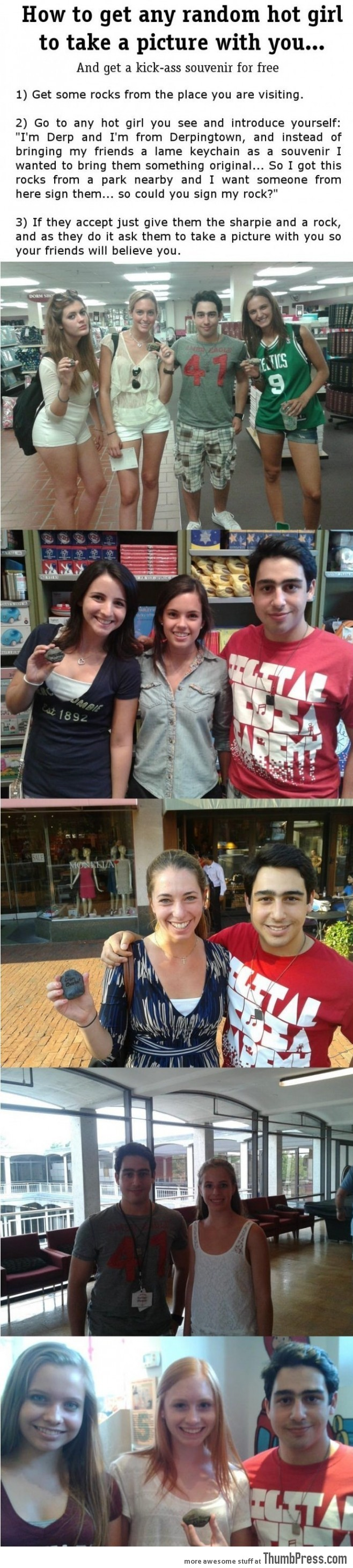 How to Get Any Hot Girl to Take a Picture With You!