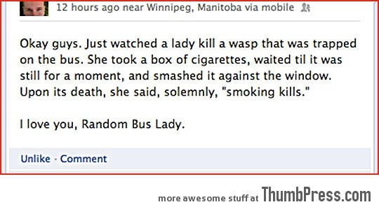 I love you, random bus lady…