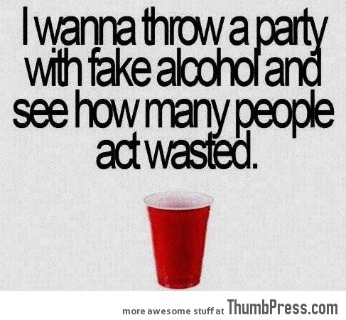 I want to throw a party…