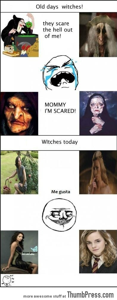 Old and modern witches difference!