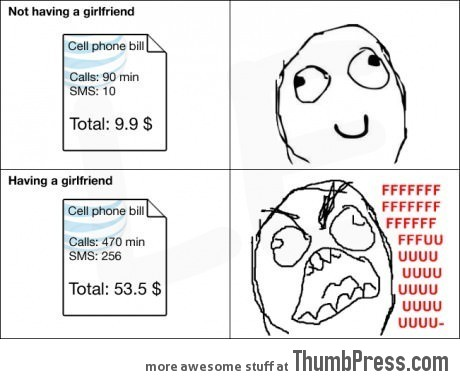 The downside of having a girlfriend...
