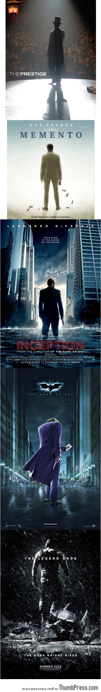When Christopher Nolan directs, they know what kind of poster to make…