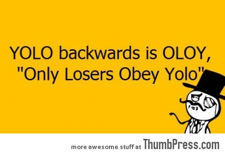 YOLO backwards