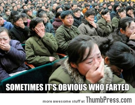 Sometimes it's obvious who farted