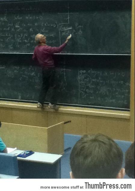 Hope he balances that equation