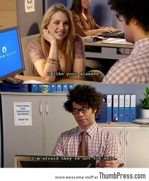 I can't flirt... Seriously, I'm not a observant man