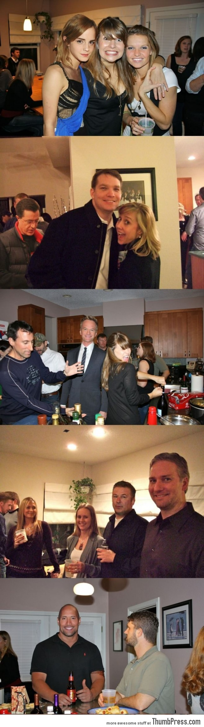 Photoshoping celebrities into holiday party photos