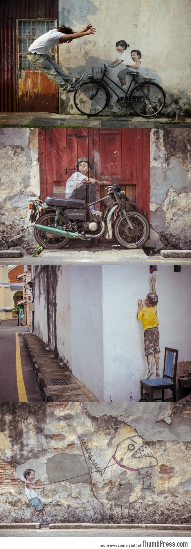 Realistic wall painting