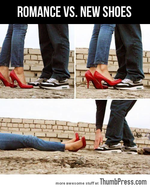 Romance vs. a new pair of shoes…