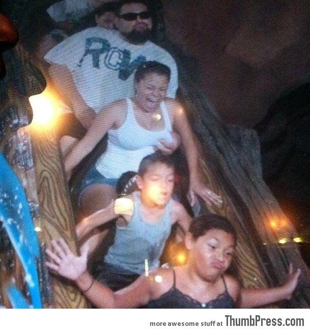 So my friend was at Disneyland when..