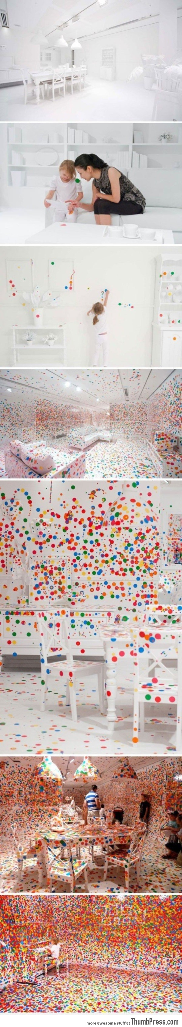 What happens when you give kids thousands of stickers