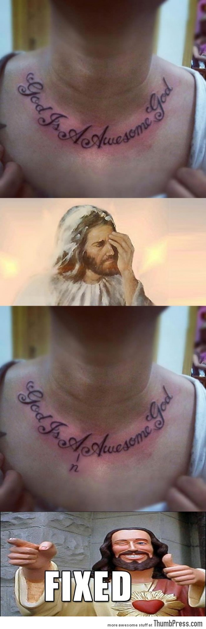I prayed for a tattoo removal