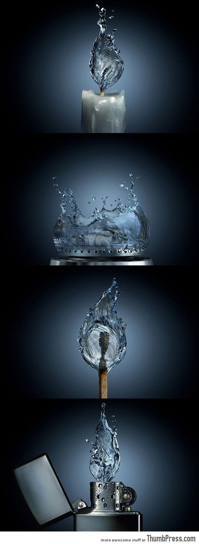 If fire were water
