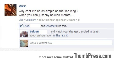 Why can't life be as simple as the Lion King