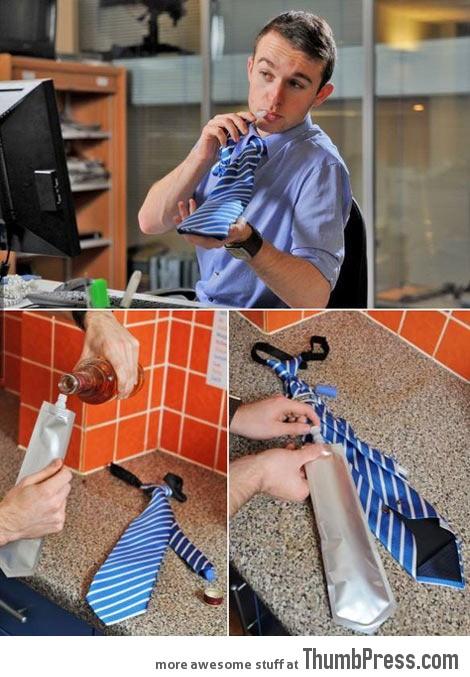 Flask Tie, finally a tie worth wearing…