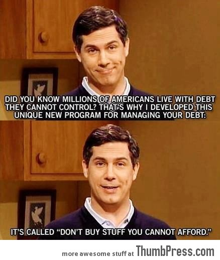 Found how to stop debt