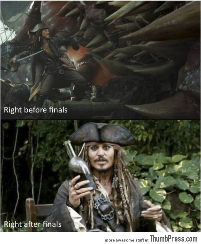 Jack Sparrow and final exams